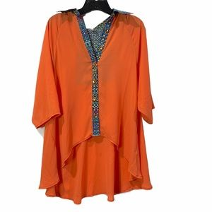 Ashard Richey Open Back High Low Blouse